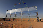 First sections of a barrier at Israel-Egypt border are erected, some 70 km north of Eilat, southern Israel. Alarmed by what it described as a near-doubling in the influx of Africans seeking work or claiming refugee status, Israel last year began erecting a fence along the frontier.