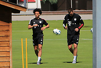 13th July 2020, Sebenersatrsse, Munich, Germany;  Niklas Suele FCB and Leroy Sane new signing for FCB  with Niklas Suele FCB