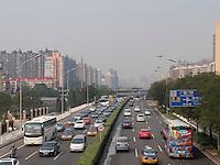 Stra&szlig;e Guangqumen Nanbinhelu, Peking, China, Asien<br /> Guangqumen nanbinhelu Stret, Beijing, China, Asia