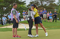 So Yeon Ryu (KOR) hugs Sung Hyun Park (KOR) after Park won the 2018 KPMG Women's PGA Championship on the second playoff hole at Kemper Lakes Golf Club, at Kildeer, Illinois, USA. 7/1/2018.<br /> Picture: Golffile | Ken Murray<br /> <br /> All photo usage must carry mandatory copyright credit (&copy; Golffile | Ken Murray)