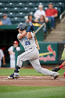 Corpus Christi Hooks third baseman J.D. Davis (26) follows through on a swing during a game against the Springfield Cardinals on May 31, 2017 at Hammons Field in Springfield, Missouri.  Springfield defeated Corpus Christi 5-4.  (Mike Janes/Four Seam Images)