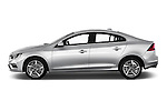 Car Driver side profile view of a 2018 Volvo S60 R-Design 4 Door Sedan Side View