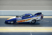 Apr. 14, 2012; Concord, NC, USA: NHRA top alcohol funny car driver Ray Drew during qualifying for the Four Wide Nationals at zMax Dragway. Mandatory Credit: Mark J. Rebilas-