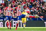 Saul Niguez Esclapez of Atletico de Madrid in action during the La Liga 2017-18 match between Atletico de Madrid and UD Las Palmas at Wanda Metropolitano on January 28 2018 in Madrid, Spain. Photo by Diego Souto / Power Sport Images