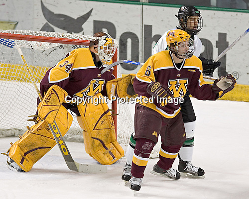 Kellen Briggs, R.J. Anderson, Travis Zajac - The University of Minnesota Golden Gophers defeated the University of North Dakota Fighting Sioux 4-3 on Saturday, December 10, 2005 completing a weekend sweep of the Fighting Sioux at the Ralph Engelstad Arena in Grand Forks, North Dakota.