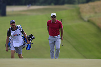 Paul Casey (ENG) and caddy John Mclaren walk onto the 8th green during Saturday's Round 3 of the 117th U.S. Open Championship 2017 held at Erin Hills, Erin, Wisconsin, USA. 17th June 2017.<br /> Picture: Eoin Clarke | Golffile<br /> <br /> <br /> All photos usage must carry mandatory copyright credit (&copy; Golffile | Eoin Clarke)