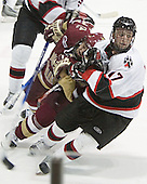 Chris Collins, Carter Lee - The Boston College Eagles and Northeastern University Huskies tied at 1 on Saturday, October 22, 2005, at Matthews Arena in Boston, Massachusetts.