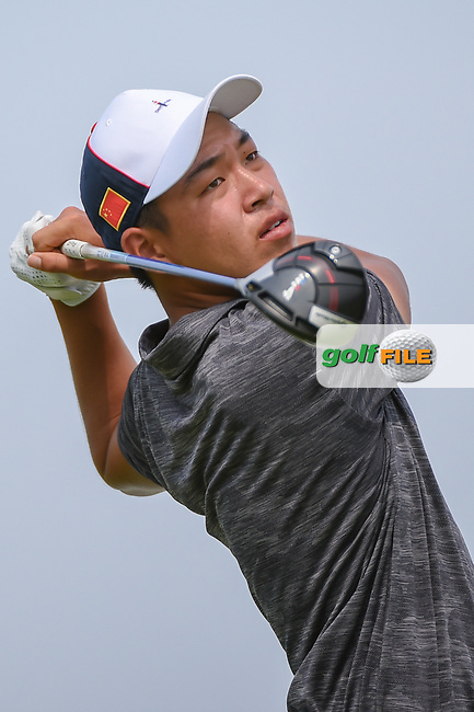Cheng JIN (CHN) watches his tee shot on 6 during Rd 3 of the Asia-Pacific Amateur Championship, Sentosa Golf Club, Singapore. 10/6/2018.<br /> Picture: Golffile   Ken Murray<br /> <br /> <br /> All photo usage must carry mandatory copyright credit (© Golffile   Ken Murray)