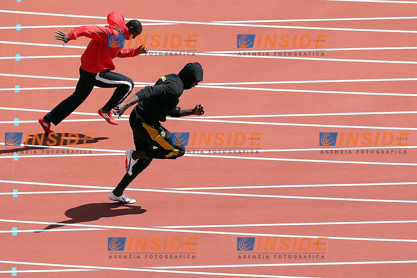 Usain Bolt Jamaica.London 04/08/2012 .London 2012 Olympic games  - Men s 100m Heat of Athletics - Olimpiadi Londra 2012 - 100m Uomini Atletica.Olympic Stadium.Foto Imago / Insidefoto.ITALY ONLY..
