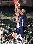 Jackson State Tiger guard Cason Burke (1) goes up for a shot  in the game between the Jackson State Tigers and the University of North Texas Mean Green at the North Texas Coliseum,the Super Pit, in Denton, Texas. UNT defeated Jackson 68 to 49