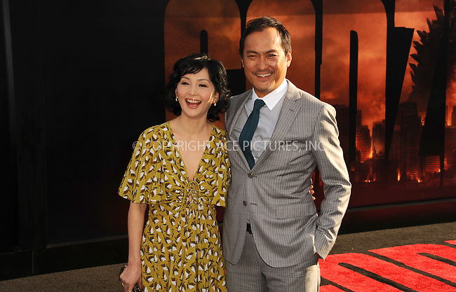 ACEPIXS.COM<br /> <br /> May 8 2014, LA<br /> <br /> (R-L)  Ken Watanabe and Kaho Minami arriving at the Los Angeles premiere of 'Godzilla' at Dolby Theatre on May 8, 2014 in Hollywood, California. <br /> <br /> By Line: Peter West/ACE Pictures<br /> <br /> ACE Pictures, Inc.<br /> www.acepixs.com<br /> Email: info@acepixs.com<br /> Tel: 646 769 0430