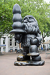 Controversial 'Santa Claus with Butt plug' sculpture, by Paul McCarthy created 2001 Rotterdam, Netherlands