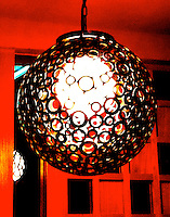 Modern silver light fitting decore interior design