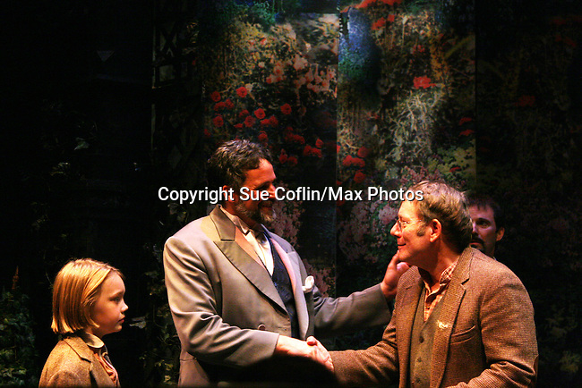 """Charlie Plummer - Chris Whipple - Ron Schnittker  as Philipstown Depot Theatre presents The Secret Garden on November 15, 2009 in Garrison, New York. The musical The Secret Garden is the story of """"Mary Lennox"""", a rich spoiled child who finds herself suddenly an orphan when cholera wipes out the entire Indian village where she was living with her parents. She is sent to live in England with her only surviving relative, an uncle who has lived an unhappy life since the death of his wife 10 years ago. """"Archibald's son Colin"""", has been ignored by his father who sees Colin only as the cause of his wife's death.This is essentially the story of three lost, unhappy souls who, together, learn how to live again while bringing Colin's mother's garden back to life. (Photo by Sue Coflin/Max Photos)........"""