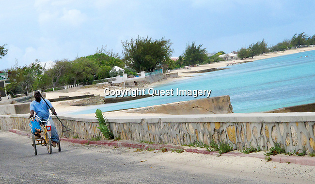 Images around Cockburn Town on Grand Turk Island.  Grand Turk is the capital of the Turks &amp; Caicos Islands archipelago, located 575 miles Southeast of Miami, Florida, and 30 miles south of the Bahamas.<br /> Photo by Deirdre Hamill/Quest Imagery