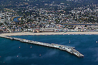 aerial photograph Santa Cruz Pier, California