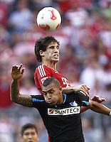 ATENCAO EDITOR IMAGEM EMBARGADA PARA VEICULO INTERNACIONAL - MUNIQUE, ALEMANHA, 06 OUTUBRO DE 2012 - CAMP. ALEMAO - BAYERN DE MUNIQUE X HOFFENHEIM - Javi Martinez jogador do Bayern de Munique durante partida contra o Hoffenheim pela setima rodada do Campeonato Alemao em Munique na Alemanha, neste sabado ,06. (FOTO: PIXATHLON / BRAZIL PHOTO PRESS)