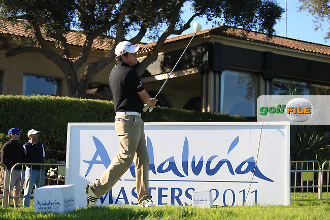 Paul Cutler (NIR) during the 2nd day at the  Andalucía Masters at Club de Golf Valderrama, Sotogrande, Spain. .Picture Fran Caffrey www.golffile.ie