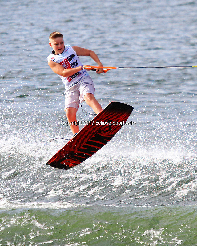 ORLANDO, FL - April 29:  Noah Fedorovich USA wins the Boy's Beginner Division at the WWA Nautique Wake Open 2017 at  the Orlando Watersports Complex on April 29, 2017 in Orlando, Florida. (Photo by Liz Lamont/Eclipse Sportswire/Getty Images)