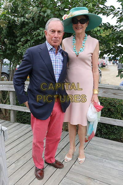BRIDGEHAMPTON, NY - AUGUST 31: Michael Bloomberg and Diana Taylor at the 39th Annual Hamptons Classic Horse Show in Bridgehampton, New York on August 31, 2014.  <br /> CAP/MPI/mpi98<br /> &copy;mpi98/MediaPunch/Capital Pictures