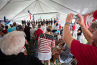 AR_07272016_RIO_HOUSTON_00046.ARW  © Amory Ross / US Sailing Team.  HOUSTON - TEXAS- USA. July 27, 2016. The Houston Yacht Club hosts a send-off party for the US Sailing Team during the Optimist Nationals regatta, a day before the sailors fly to Rio for the Summer Olympics.