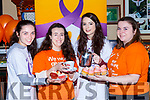 Elizabeth Mohan, Emma Cronin, Cliona O'Shea and Brid Cronin at the coffee morning in aid of the Irish Cancer Society in the Failte bar on Saturday
