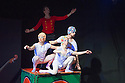London, UK. 16.12.2014. Peut-etre Theatre present THE TIN SOLDIER, a show for children, at the Roundhouse. Picture shows: Maya Politaki, Alistair Goldsmith, Emily Nicholl, Sam Alty. Photograph © Jane Hobson.