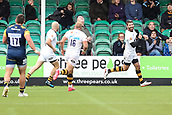 10th September 2017, Sixways Stadium, Worcester, England; Aviva Premiership Rugby, Worcester Warriors versus Wasps; Willie Leroux of Wasps celebrates scoring a try to put Wasps ahead in the last few minutes of the game