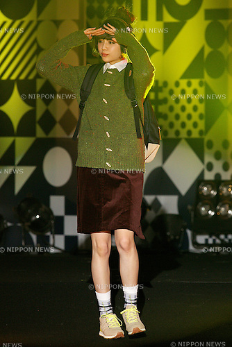 "Rinko Murata, September 28, 2014, Tokyo, Japan : Model Rinko Murata wearing fashion brand ""new balance"" walks down the catwalk during the ""Moshi Moshi Nippon Festival 2014"" on September 28, 2014 in Tokyo, Japan. Several famous Idols such as Dempagumi idol group, Kyary Pamyu Pamyu and Harayuku models attend the Moshi Moshi Nippon Festival 2014 to promotes the Japanese pop culture (fashion, anime, music and food) to non-Japanese people. (Photo by Rodrigo Reyes Marin/AFLO)"