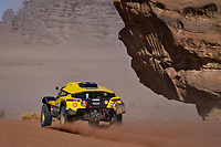 January 7th 2020, Neom, Saudi Arabia;  322 Han Wei chn, Liao Min chn, 2WD, Geely Auto Shell Lubricant Team, during Stage 3 of the Dakar 2020 of 489 km