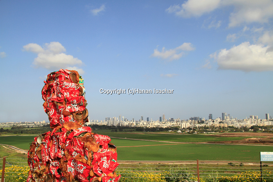"Israel, artist HA Schul's ""Trash People"" exhibition at the Hiriya Recycling Park overlooking Tel Aviv"