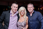 Sarah Brady Celebrating her 40th in Bru, with her brothers Peter and Michael McDermott..Picture: Shane Maguire / www.newsfile.ie.