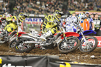 01/22/11 Los Angeles, CA:  James Decotis during the 1st ever AMA Supercross held at Dodger Stadium.