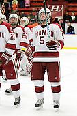 Jack Christian (Harvard - 5) - The Princeton University Tigers defeated the Harvard University Crimson 2-1 on Friday, January 29, 2010, at Bright Hockey Center in Cambridge, Massachusetts.