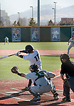 February 24, 2012:   Nevada Wolf Pack shortstop Kyle Hunt swings against the Utah Valley Wolverines during their NCAA baseball game played at Peccole Park on Friday afternoon in Reno, Nevada.