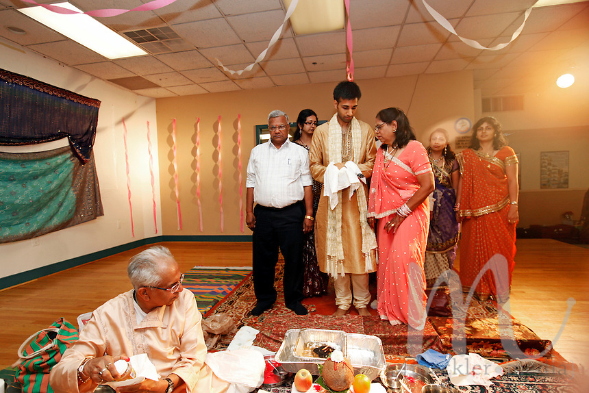 Indian wedding ceremonies of Gopal Parekh and Joanna Bell held in Durga Temple on Friday, August 19, 2011.