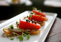 Smoked salmon crostini at the Spur Gastropub. (Photo by Scott Eklund)