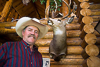 Mountain View, Alberta, Canada, July 2008. Dan Nelson at home. Rancher Dan Nelson takes us on a horse back trail ride in the hills connecting the Albertan prairie with the mountains of Waterton National Park. Photo by Frits Meyst/Adventure4ever.com