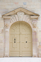 Traditional doorway of the Ducal Palace, Palais des Ducs et des Etats de Bourgogne, at Dijon in the Burgundy region of France