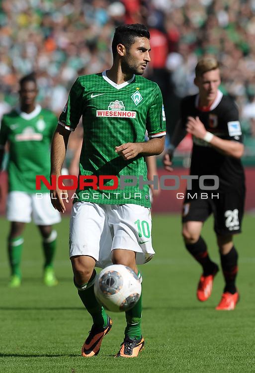 17.08.2013, Weserstadion, Bremen, GER, 1.FBL, Werder Bremen vs FC Augsburg, im Bild Mehmet Ekici (Bremen #10)<br /> <br /> Foto &copy; nph / Frisch