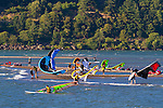 A popular launch site in Hood River, Oregon, for kite surfers and wind surfers on the Columbia River.