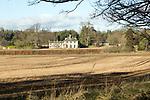 Broxtead House, Georgian style country estate farmhouse, Sutton, Suffolk, England, UK