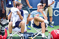 Washington, DC - August 6, 2017: Henri Kontinen (FIN) and John Peers (AUS) share a moment after winning the Citi Open Doubles Finals at Rock Creek Tennis Center, in Washington D.C. (Photo by Philip Peters/Media Images International)
