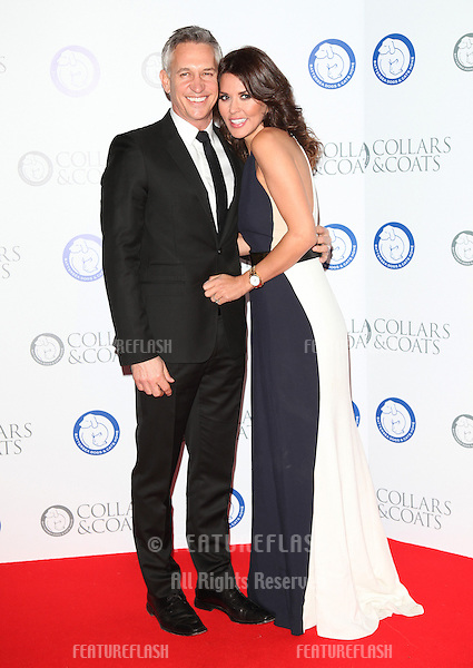 Gary and Danielle Lineker arriving for the Collars And Coats Ball, at Battersea Evolution, London. 08/11/2012 Picture by: Alexandra Glen / Featureflash