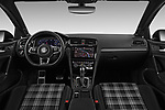 Stock photo of straight dashboard view of 2017 Volkswagen Golf GTD 5 Door Hatchback