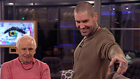 Wayne Sleep and Shane Lynch<br /> Celebrity Big Brother 2018 - Day 30<br /> *Editorial Use Only*<br /> CAP/KFS<br /> Image supplied by Capital Pictures