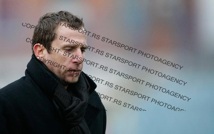 Fudbal, Jelen super liga, sezona 2009/2010.OFK Beograd Vs. BSK Borca.Head coach Dejan Djurdjevic.Beograd, 12.12.2009..foto: Srdjan Stevanovic/Starsportphoto ©