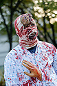 Zombie Walk Seoul, Oct 17, 2015 : A man attends Zombie Walk Seoul in central Seoul, South Korea. (Photo by Lee Jae-Won/AFLO) (SOUTH KOREA)