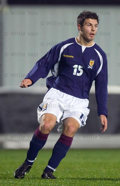 Richard Foster, Scotland u21.stock season 2004-2005.pic willie vass