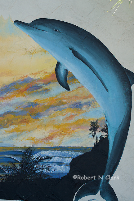 Mural on wall of 7-Eleven, downtown Encinitas